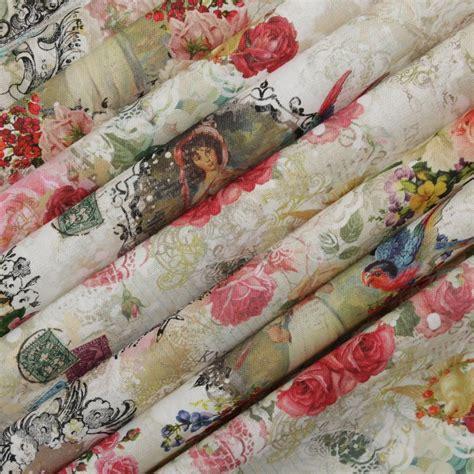 vintage shabby script full colour digital print 100 cotton upholstery fabric ebay