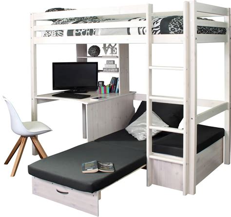 Thuka Hit High Sleeper by Hit 8 High Sleeper Bed With Black Chair Bed