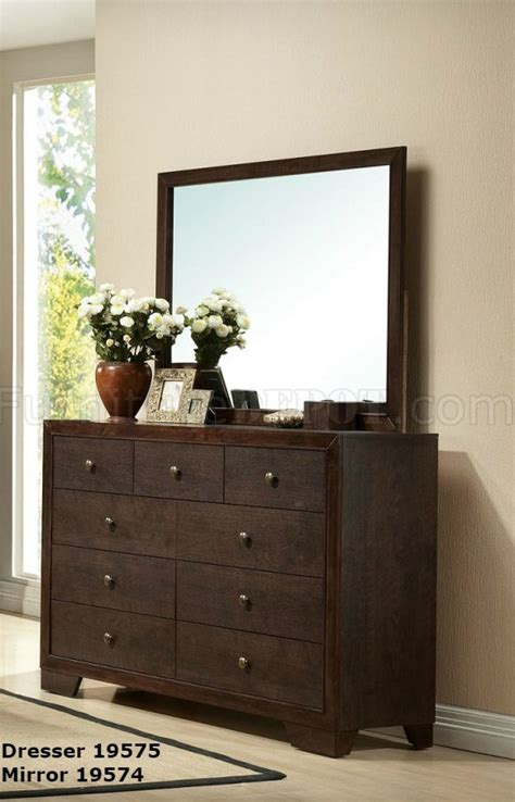 traditional 5pc bedroom set w options madison ii bedroom 19560 5pc set in espresso by acme w options