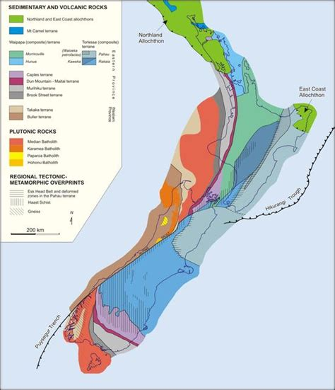 blogger nz geography blog geological map of new zealand