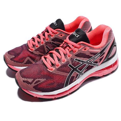 pink and black asics running shoes asics gel nimbus 19 black pink running shoes
