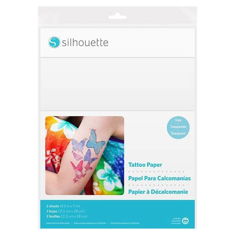 tattoo paper supplies silhouette temporary tattoo paper clear swing design