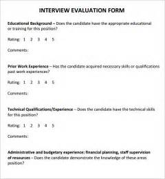 interview evaluation 5 free download for pdf