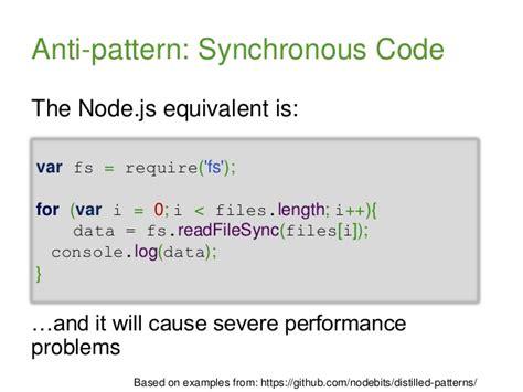 pattern analysis node js node js patterns for discerning developers