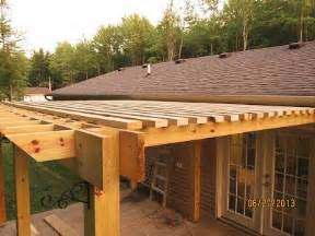 Building A Pergola Off The House by Pergola With Inset Beams And 2x4 Louvers Instead Of