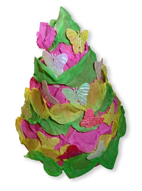 Crepe Paper Craft - paper crafts for children 187 crepe paper tree