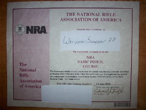 nra certificate template check it out guys my official