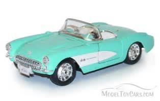 1957 chevy corvette convertible turquoise maisto 34275