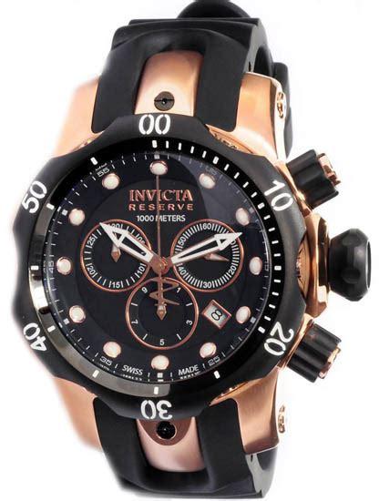 Invicta 1543 Rosegold Black Rubber invicta 0948 gold tone stainless steel