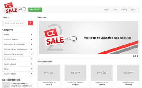 Czsale Classified Ads Website Template Business Corporate Wrapbootstrap Bootstrap Classified Website Template