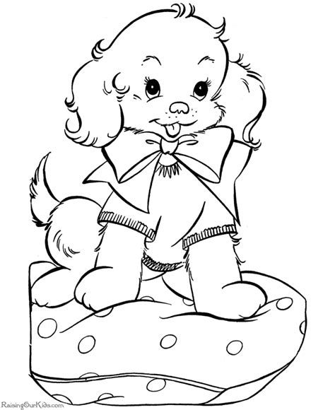 Dog Coloring Book Page Coloring Home Puppies Coloring Pages