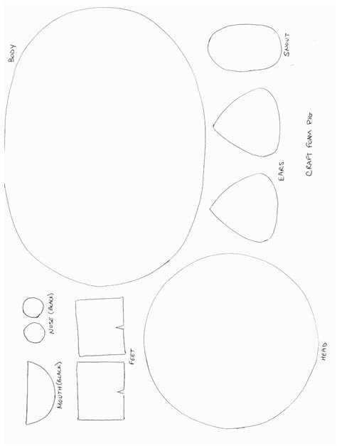animal templates for crafts printable animal crafts