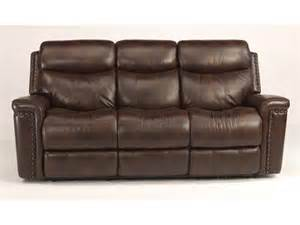 Leather Reclining Sofa Flexsteel Living Room Leather Power Reclining Sofa 1339 62p Furniture Company New