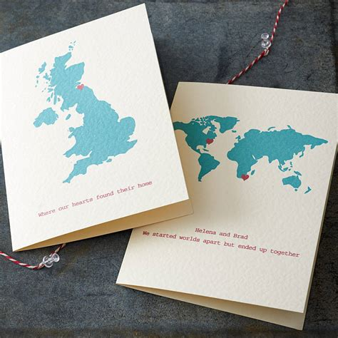 map card personalised destination map card by milly inspired