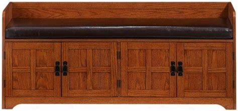 craftsman storage bench arts and crafts entryway bench
