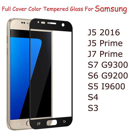 Tempered Glass Colour J5 Prime J7 Prime gertong cover tempered glass for samsung galaxy s7 j5 j7 2016 s6 s5 j5 j7 prime note 5 4 3