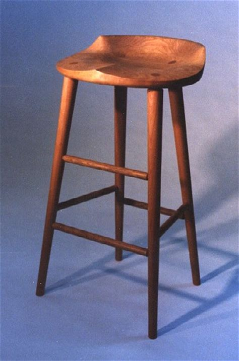 Handmade Wooden Bar Stools - spindleback bar stool handmade furniture custom