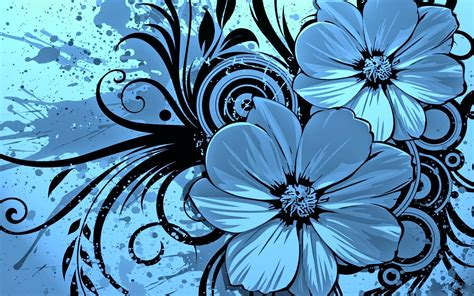 flower design hd photos keynote blue floral template free iwork templates