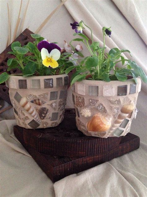 Mosaic Planter Large Flower Pot Indoor By Mozehicdesigns - mosaic planter flower pot herb pot set from