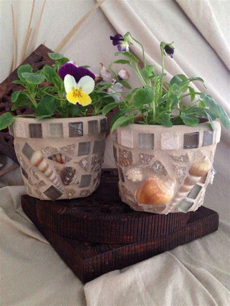 Mosaic Flower Pot Indoor Planter Desktop Planters Succulent - mosaic planter flower pot herb pot set from