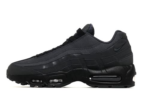 black 110s nike air max 95 trainers in navy with gum sole minmage nu