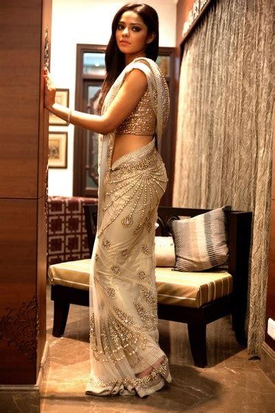 And Gold Sari soma sengupta indian bridal so ethereal white gold sari