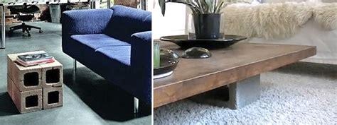 Muebles con bloques de hormig 243 n decorar hogar
