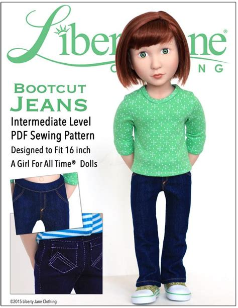 bootcut jeans sewing pattern liberty jane bootcut jeans doll clothes pattern 16 inch a