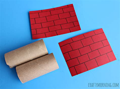 How To Make A Chimney Out Of Paper - santa going a toilet paper roll chimney craft