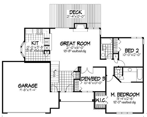 747 floor plan ranch style house plan 2 beds 2 baths 1530 sq ft plan