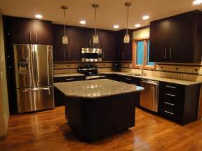 Brown Cabinet Kitchen Kitchen Remodeling Black Brown Kitchen Cabinets Design