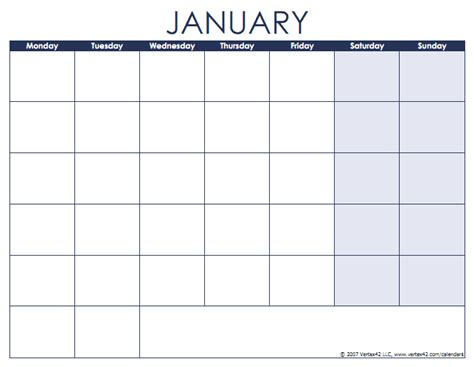 printable monthly calendar starting monday blank calendar starting monday calendar