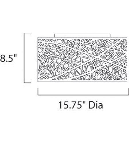 inca 9 light chrome flush mount et2 inca 7 light flush mount in polished chrome e21300 10pc