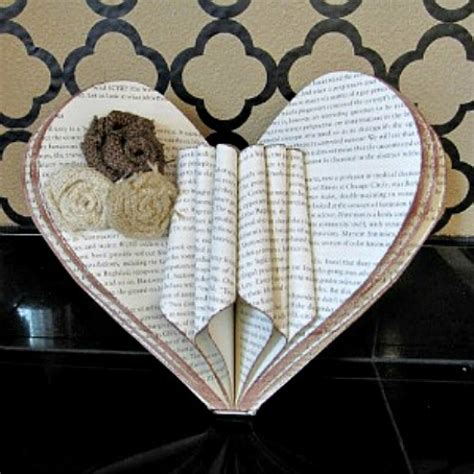 craft projects with books book page crafts