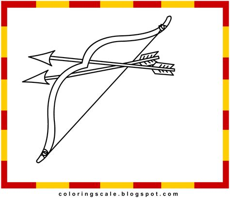 coloring page bow and arrow coloring pages printable for kids bow and arrow coloring