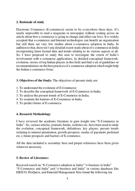 Literature Review On Promotional Activities by E Commerce In India Literature Review