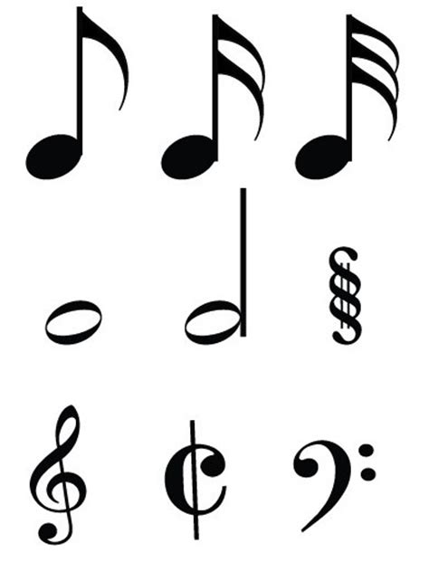 free simple musical notes vector titanui