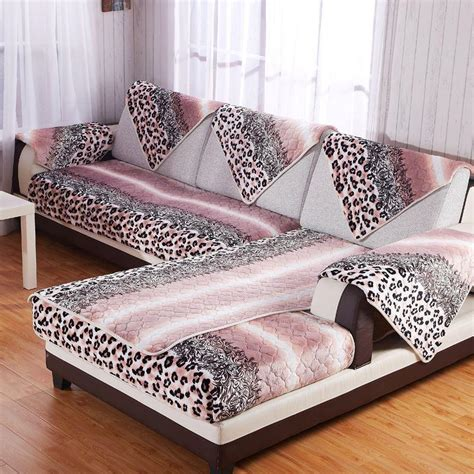 animal print couch winter warm flannel sofa cover leopard print couch covers