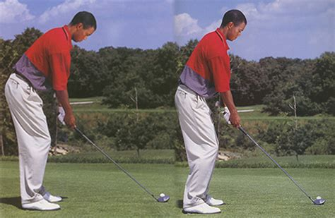 posture in the golf swing tiger woods posture learn to swing a golf club