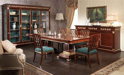 ufficio sta inglese dining table ermitage impero style vimercati classic