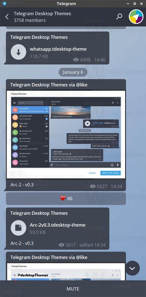 themes for telegram how to install themes in telegram desktop winaero
