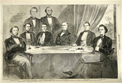 Jefferson Davis Cabinet by Cabinet Of The Confederate States Of America
