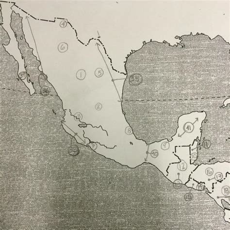 map of mexico quiz map quiz 1 middle america geography 116 with christian