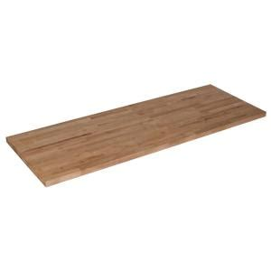 50inx25inx1 5in wood butcher block countertop in - Butcher Block Countertops Home Depot