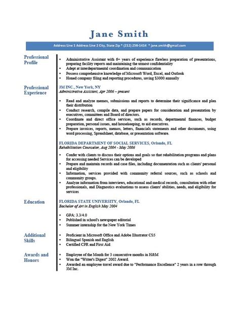 Resume Genius by Professional Profile Resume Templates Resume Genius