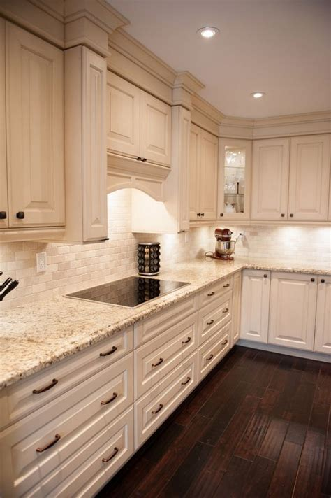 elegant cream kitchen cabinets   inspiration