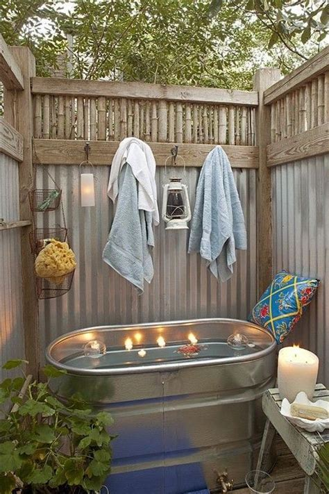 outdoor bathroom rental vacation rentals buckets and bath on pinterest
