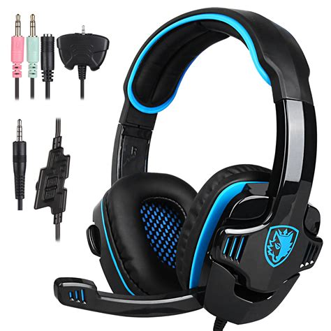 Sades Gaming Headset Sa 904 Locust Plus sades headset sa 708 7 1 surround gaming headphone usb headband pc laptop w mic ebay