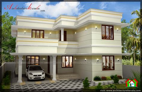House Building Estimate by Three Bedroom Two Storey House Plan Architecture Kerala