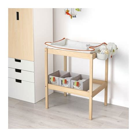 baby changing dresser ikea sniglar changing table beech white 72x53 cm ikea
